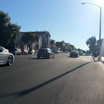 Making way through Long Beach California
