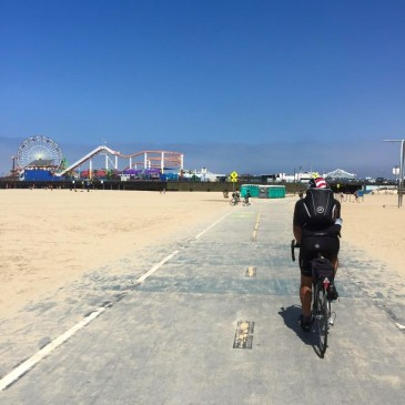 Reached Santa Monica Pier where I had finished my run across the country